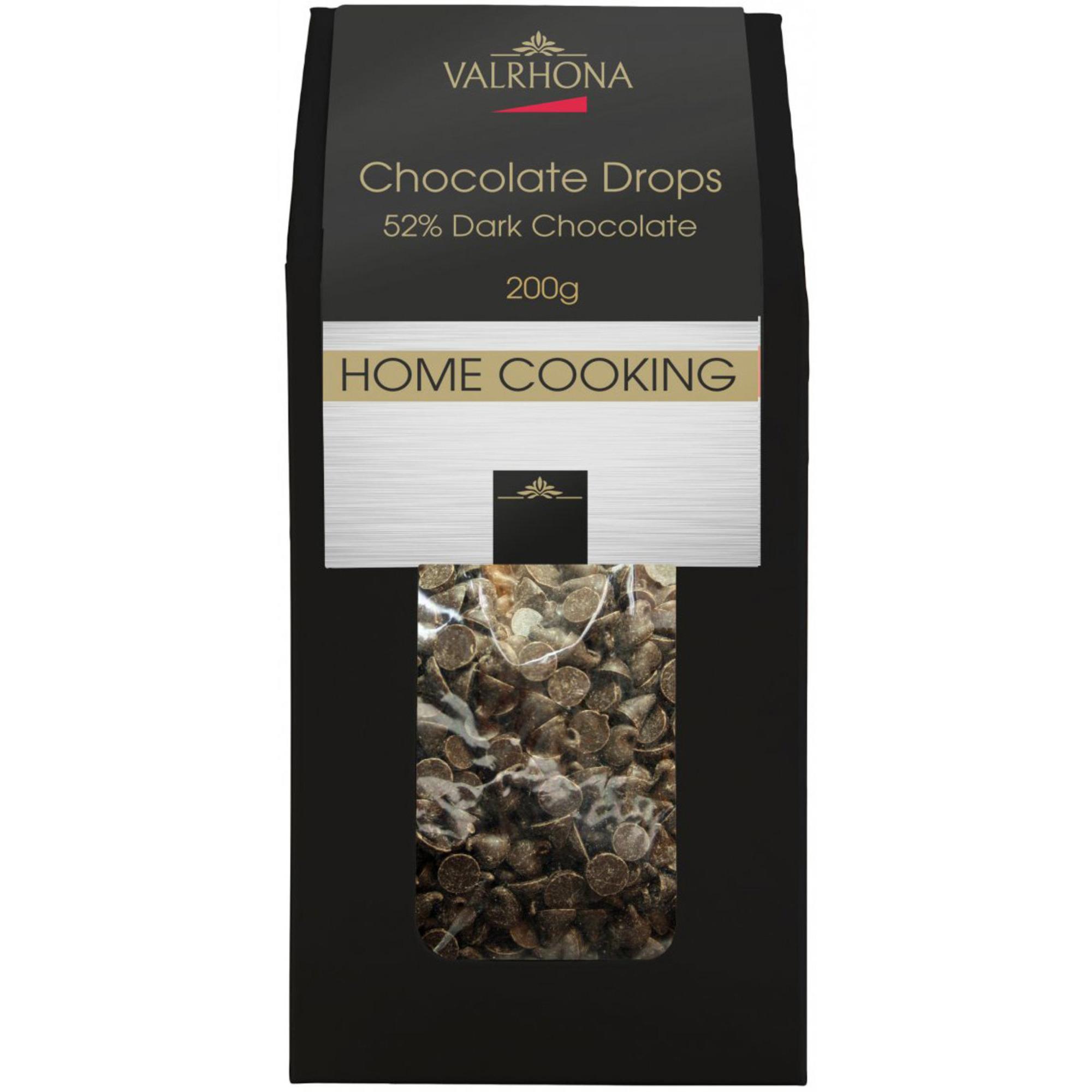 Valrhona Chokladdroppar 52%, 200g