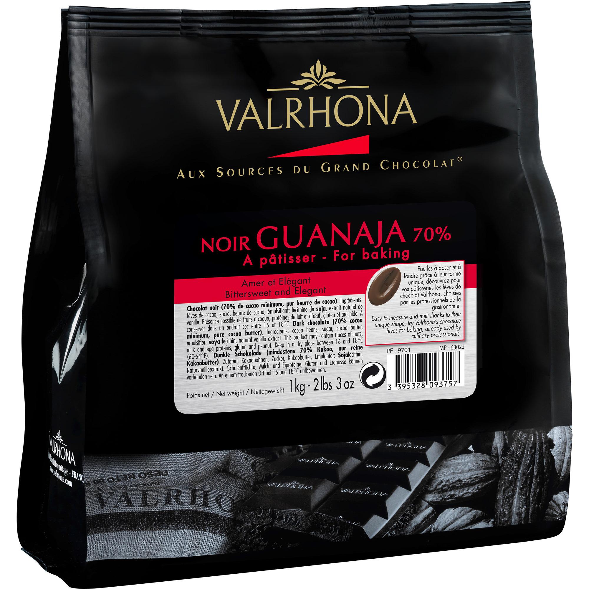 Valrhona Guanaja 70 % 1 kg pose