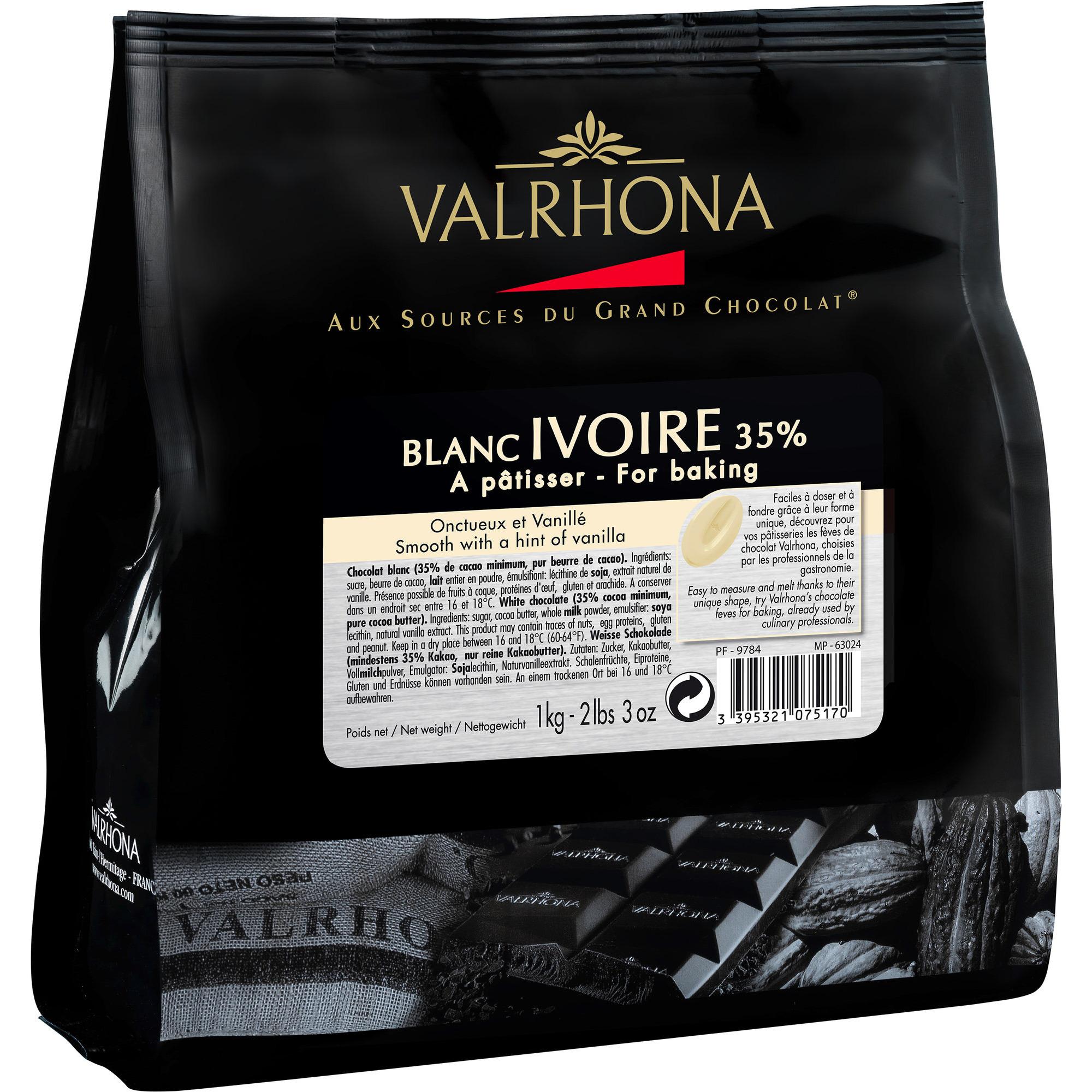 Valrhona Ivoire 35 % 1 kg pose