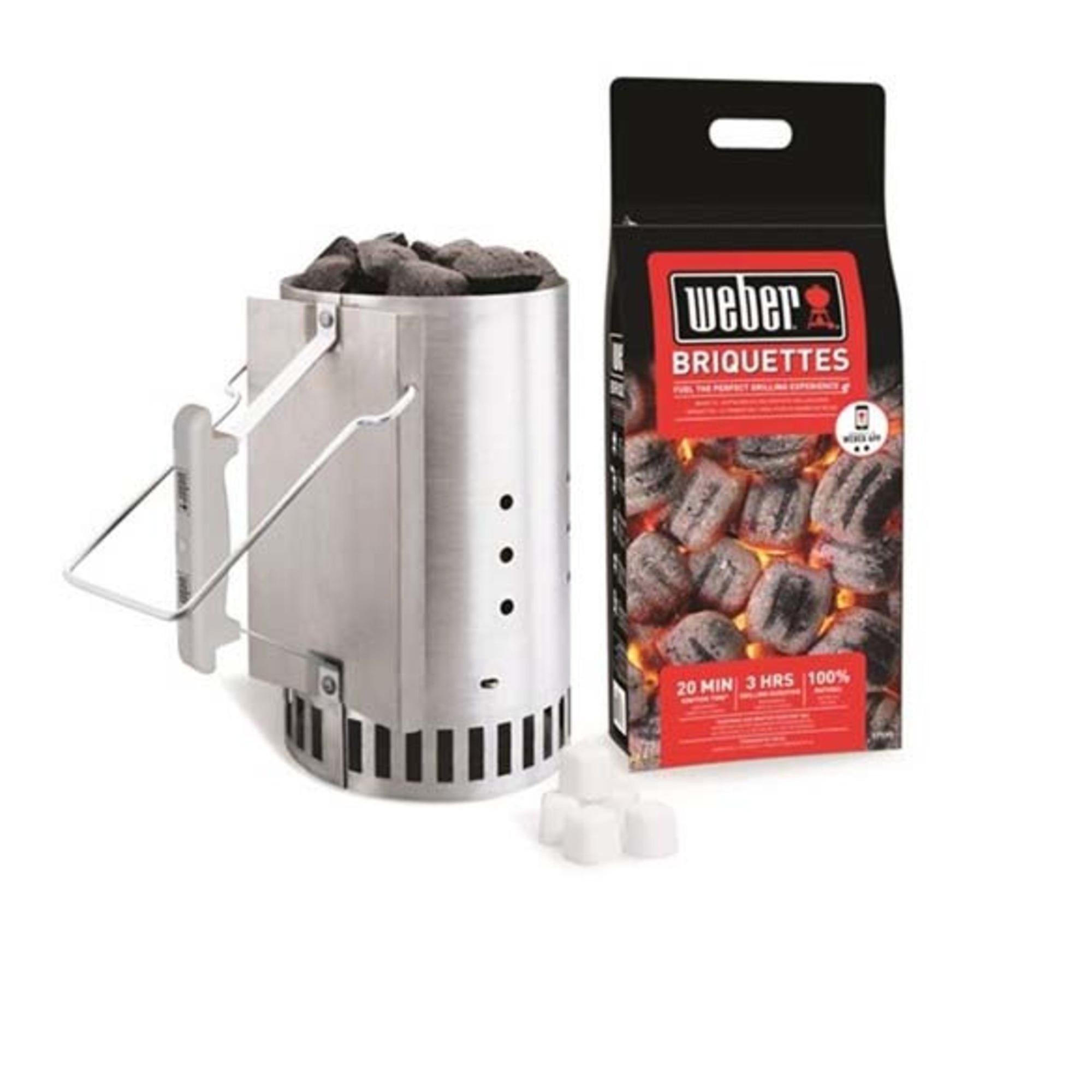 Weber Tändpaket – Grillstarter 2kg briketter & 6tändkuber