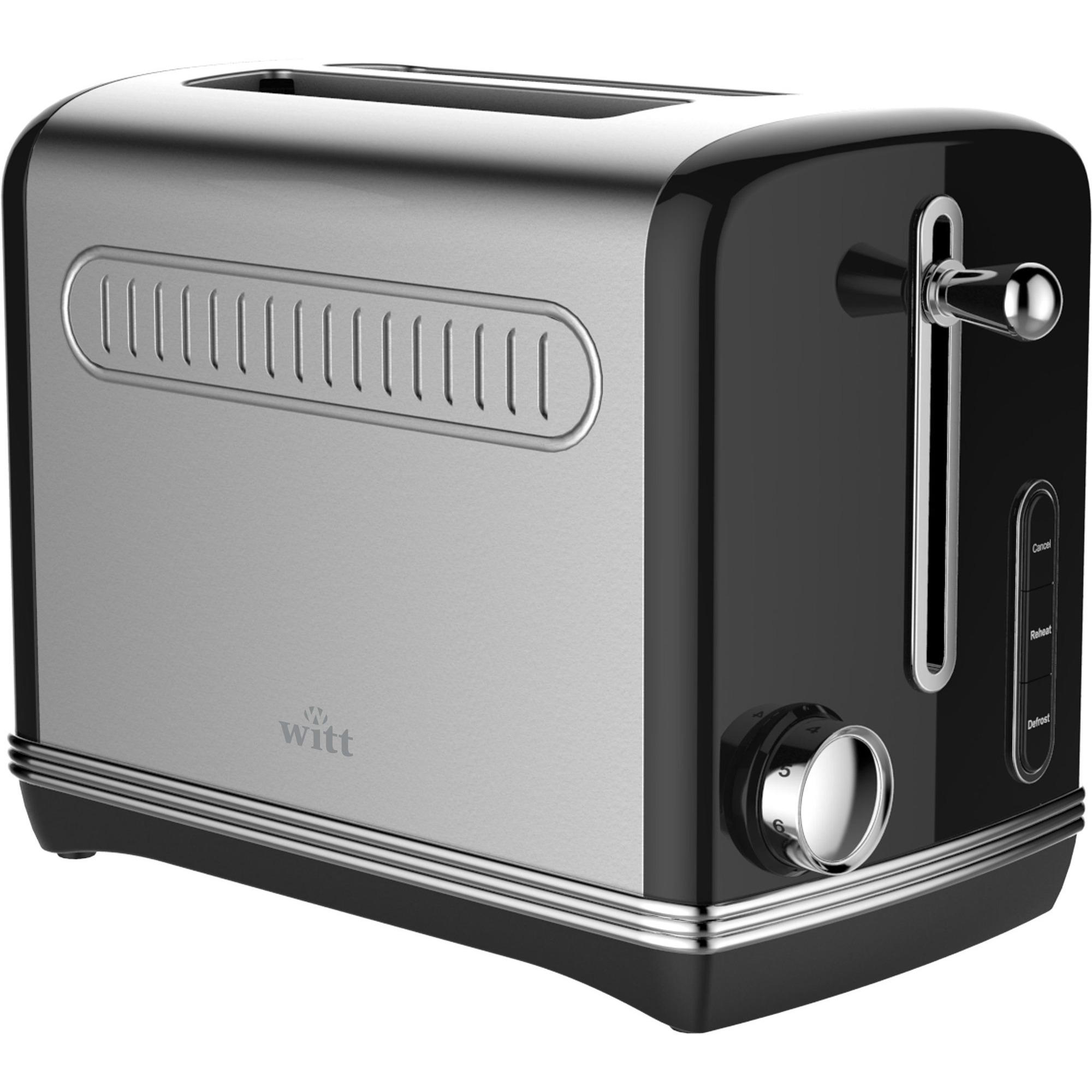 Witt Vintage Toaster Svart
