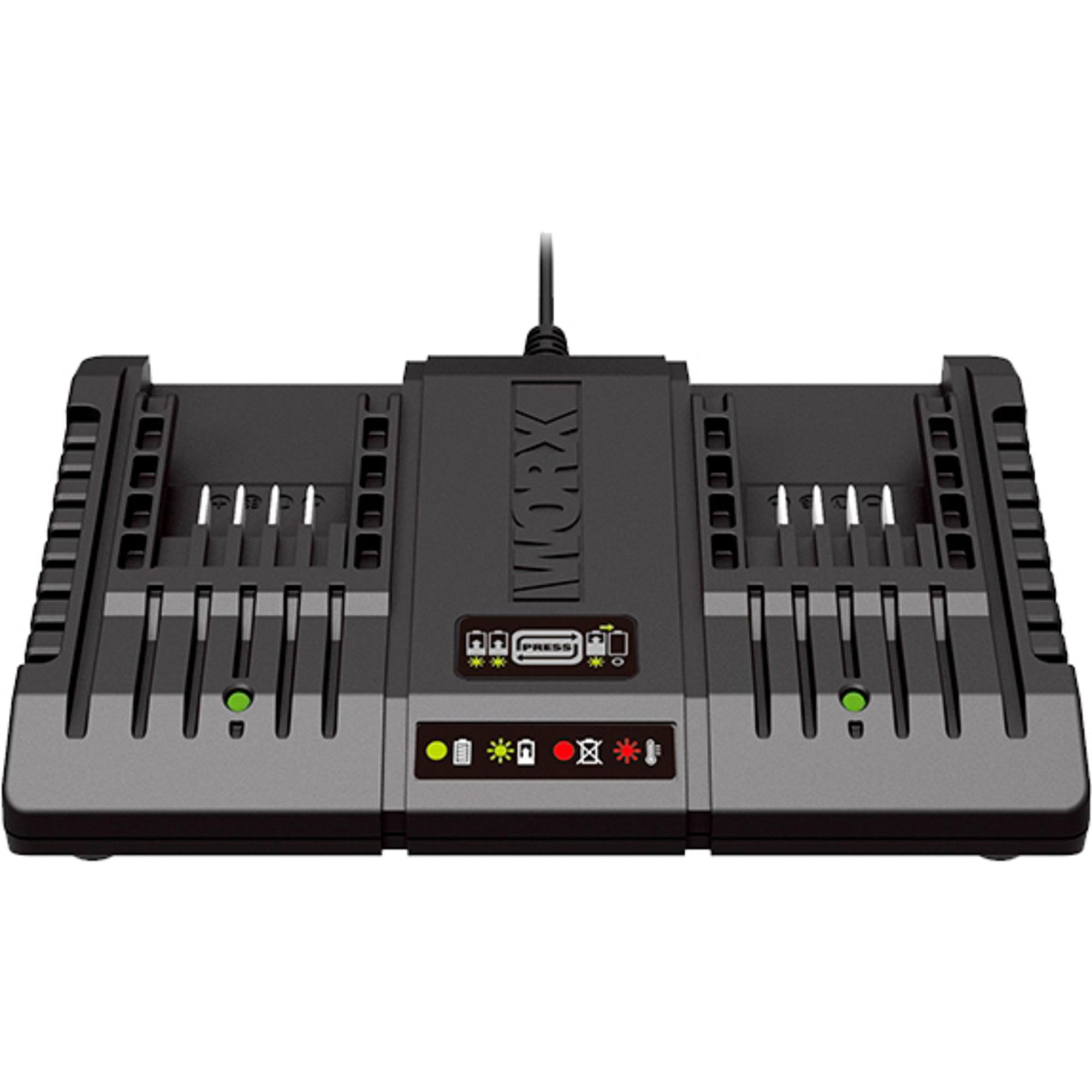 Worx WA3869 20V dubbel batteriladdare