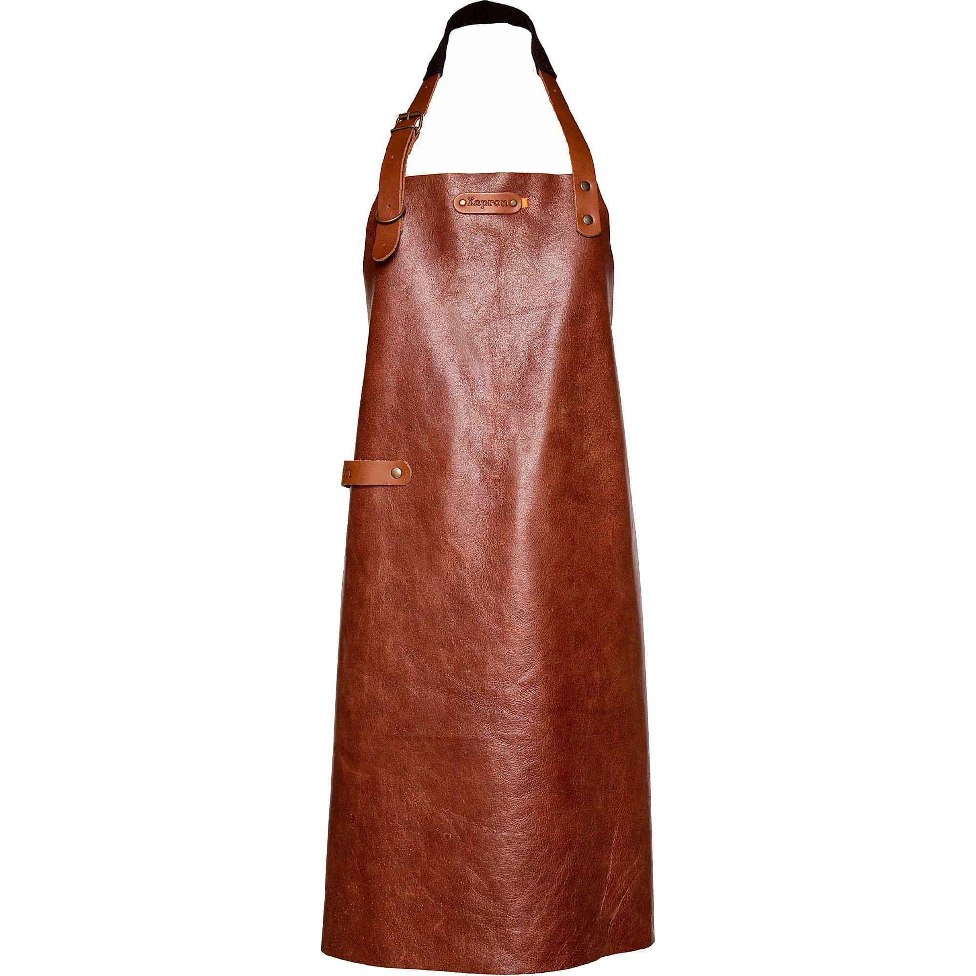 Xapron New York förkläde i cognac-brun XL