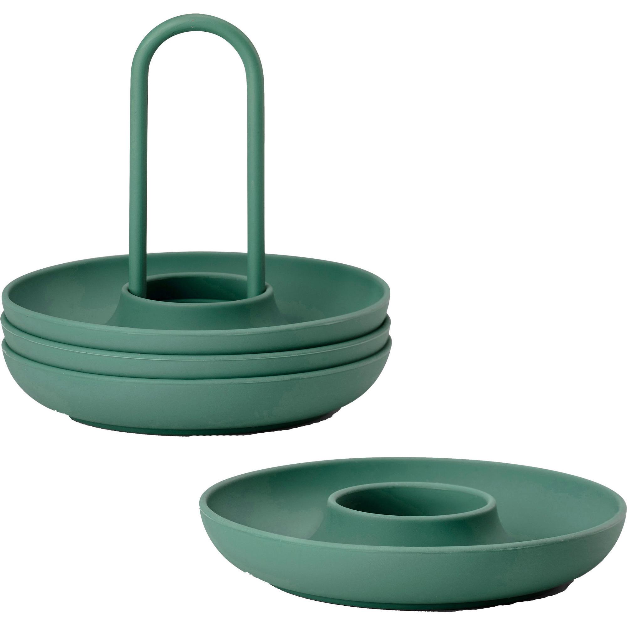Zone Äggkopp med hållare Smaragd – 4 st