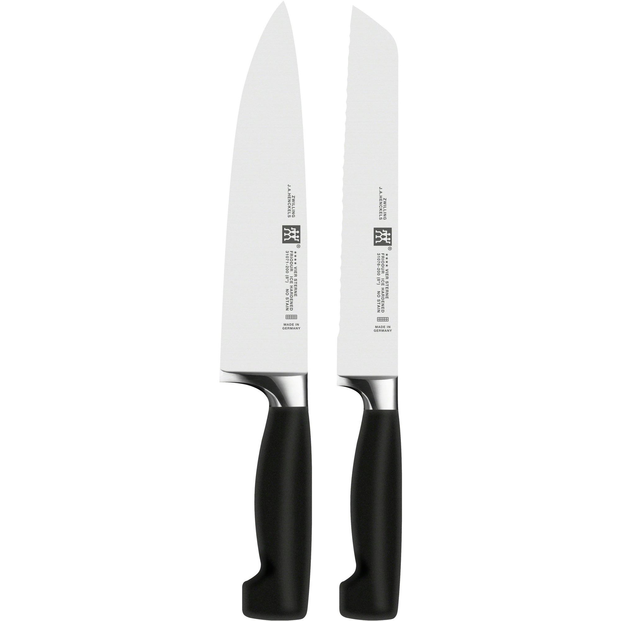 Zwilling Knivset Twin Four Star Brödkniv 20 cm +Kockkniv 20 cm