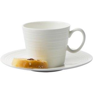 Passion Espressokopp med Fat 2 x 2 st Kremhvit