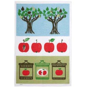 Eplesyltetøy Kjøkkenhåndkle Røde Epler