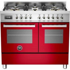 PRO1006 Gasspis 100 cm, 2 ugnar, 6 brännare, Röd
