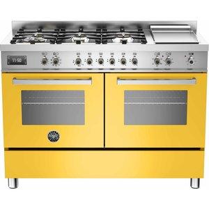 PRO1206 Gasspis 120 cm, 2 ugnar, 6 brännare + elektrisk tepanyaki, Gul