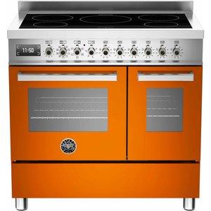 PRO905 Induktionsspis 90 cm, 2 ugnar, 5 zoner, Orange