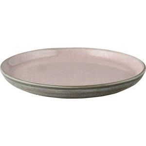 Tallerken Gastro 21 cm grå/rosa Bit