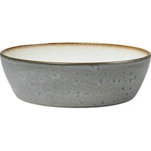 Soppskål 18 cm grå/gräddvit