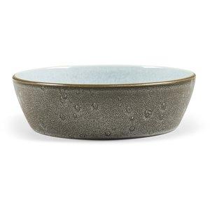Suppeskål 18cm Grå/Lyseblå