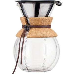 Pour Over Dubbelvägg Kork med Filter 1 l