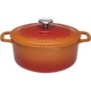 Gjutjärnsgryta Rund 2,3 liter 20 cm Flame Orange
