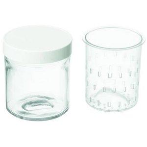Tilbehørpakke til Yoghurt & Cheese Maker med 2 krukker+Plastlokk 250 ml
