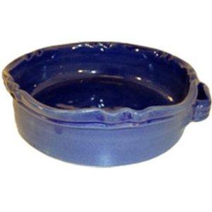 Rund Gratengform Provence Marineblå B:24 H:7 cm