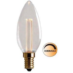 Ljuskälla Laser LED Filament DimbaKlar Kron E14