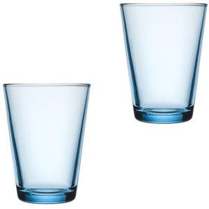 Kartio Glass 40 cl Lyseblå 2-pack