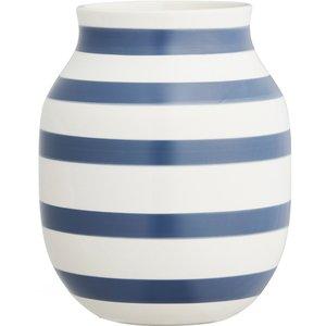 Omaggio vase 20 cm., stålblå