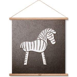 Zebra ritning, 40 x 40 cm.