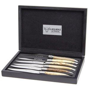 Stekekniver, 6 stk, Mix Europeisk Trevirke