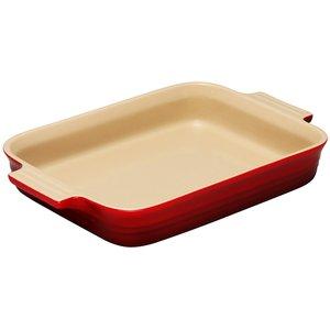 Rektangulær Form 26 cm Rød