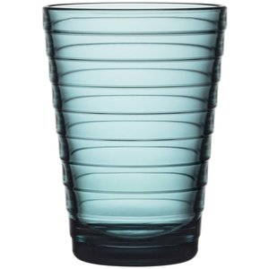 Aino Aalto glass 33 cl havsblå 2 stk