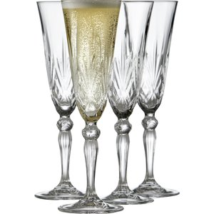 Glass Champagne Melodia 16 cl 4 st