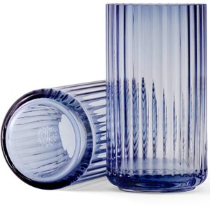 Lyngbyvasen 15 cm., glass - midnight blue