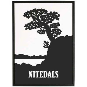 Nitedals Poster Svartvit 50x70 cm