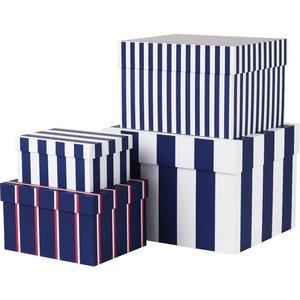 Boxar med ränder 4 St. Royal Blue