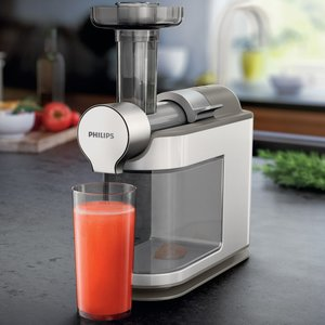 Philips Slow Juicer Demo : HR1894/80 Slow Juicer fran Philips Pressa juice av dina favoritfrukter