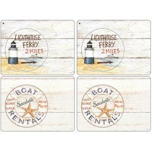 Coastal Signs Bordsunderlägg 4-pack
