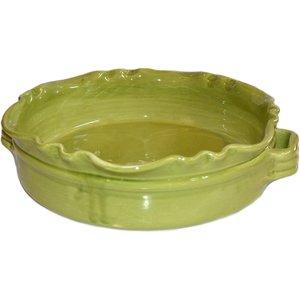 Rund Gratengform Provence Mosegrønn B:32 H:8 cm
