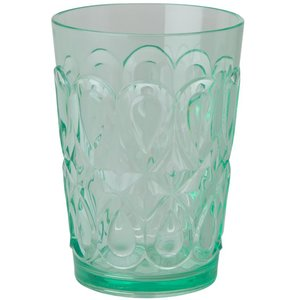 """Swirly Embossed"" Tumbler Glass Pastellgrønn"