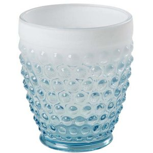 Glass Bobler Turkis/Hvit