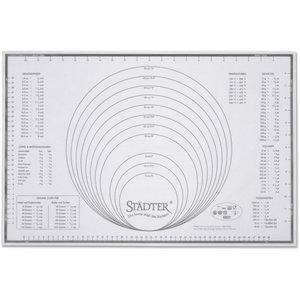 Bakeduk i Glassfiber/Silikon Gradert 60 cm x 40 cm