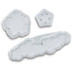 Miniutstikkere 3-deler Blomster