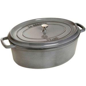 Oval Gryte 31 cm 5,5 liter Grafittgrå