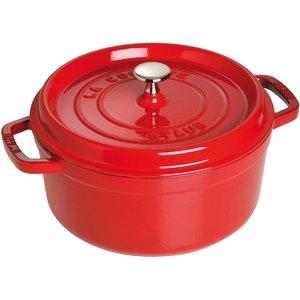 Rund Gryta 24 cm 3,8 liter Röd
