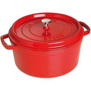 Rund Gryte 30 cm 8,35 liter Rød