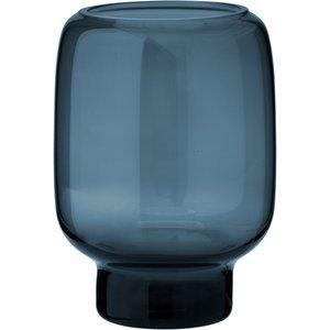 Hoop Vase 14 cm Glass Midnattsblå