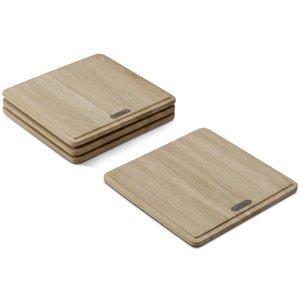 Plank Planksteksskärbräda Kvadratisk Ek
