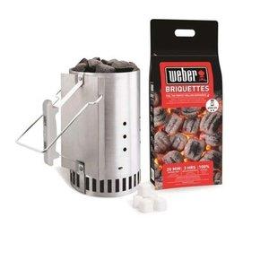 Tändpaket - Grillstarter, 2kg briketter & 6tändkuber