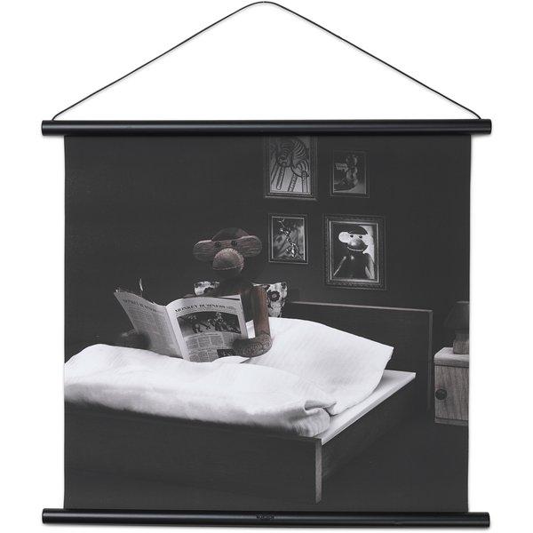Apa Foto Sängläsning/Godnattsaga 40x56 cm Svart Profil