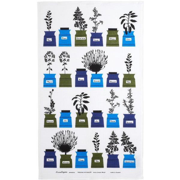 Persons Krydderskap Kjøkkenhåndkle Blå/Grønn