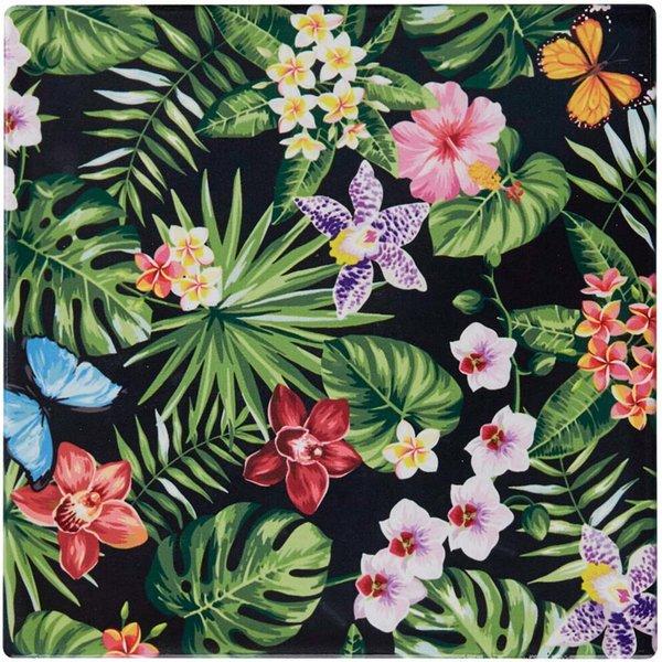 Glasunderlägg Kakel 15 X 15 cm Blommor