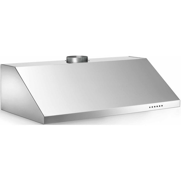 Fläktkåpa KU90PRO1X 90 cm, Professional-serien, rostfri