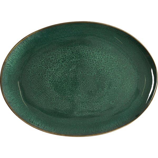 Ovalt Fat 45x34cm Sort/grønn